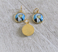 Saint MOTHER Teresa SMALL Charm GOLD -Lot 3