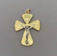 Harlequin Large Rosary Crucifix Gold