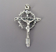 LARGE Crown of Thorn Rosary CRUCIFIX