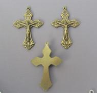 "GRAPE Rosary Crucifix 1.5"" BRONZE -Lot 3"