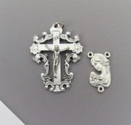 Madonna & Child SCROLL Crucifix & Centerpiece 2pc set