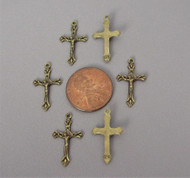 TINY Rosary Crucifix BRONZE - Lot 6
