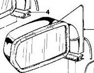 BMW E24 6-Series Electric Heated Exterior Rear View Mirror