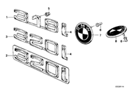 BMW 320 Rear Emblem Badge