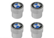 BMW Wheel Valve Stem Cap Set with Roundel