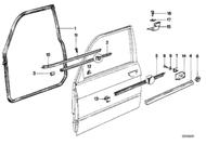 BMW 533i 535i Door Sealing Strip