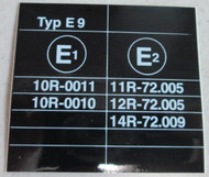 BMW E9 3.0cs E-mark ECE Sticker