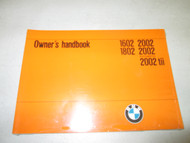 BMW 2002 Owner's Manual Model 71