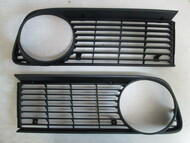 BMW 2002 Black Plastic Grille Set 1974-76