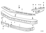 BMW Front Bumper Protective Mouldings