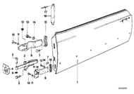 BMW E24 6-series Door Hinge Gasket