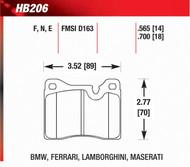 BMW 2002 3.0CSi Front Hawk Brake Pads