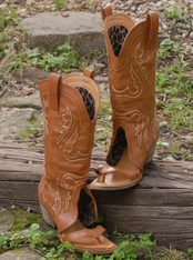 Redneck Boot Sandals, customized cowboy boots, for women