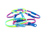 Zipper Wristband Pink/Blue/Green (5 Pk)