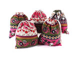 Cotton Bag - Flowers (5 Pk)