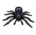 Black Plastic Spiders (5 Pk)