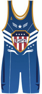 Warrior Sport Blue Patriot Stock Sublimated Singlet