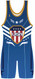 Warrior Sport Blue Patriot Stock Sublimated Singlet