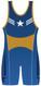 Warrior Sport Blue Patriot Stock Sublimated Singlet Back View