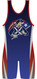 WarriorSport Custom Sublimated Singlet Sweep Template Patriot Design Back View