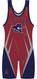 Custom Singlet by WarriorSport in Red/Navy/Silver