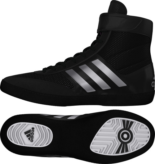 New Wrestling Shoes from Adidas, Combat Speed 5 in Black/Silver/Black