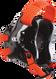 Black/Orange Fusion Headgear by Cliff Keen