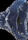 Navy/Navy Fusion Headgear by Cliff Keen