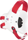 White/Red Fusion Headgear by Cliff Keen