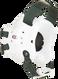 White/Dark Green Fusion Headgear by Cliff Keen