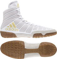 Wrestling Shoes - Adidas adiZero Varner - White/Vegas Gold -/Gum  DA9891