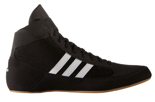 HVC Adidas Youth Wrestling Shoes: Black/White AQ3327