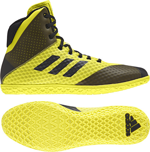 Adidas Mat Wizard Youth Shoes: Yellow/Black AH2135