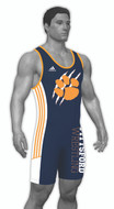 Sublimated Adidas aS108c-02-02 Custom CLIMALITE Sublimated Singlet
