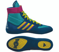 New Color Combat Speed Wrestling Shoe - Aqua/Yellow/Teal