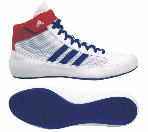 HVC 2 Youth Wrestling Shoe - New color for 2019-White/Blue/Red