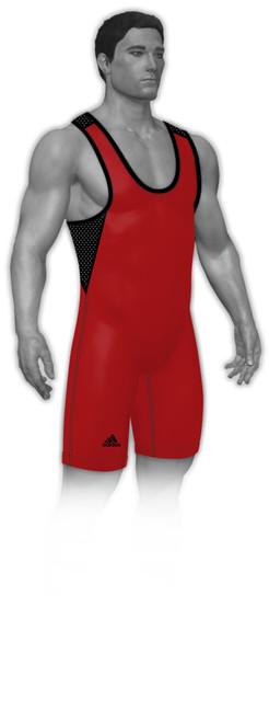 adidas red/black climacool singlet