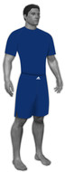Adidas stock royal blue compressions shirt