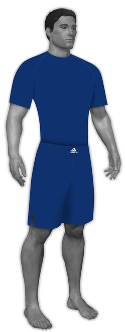 Adidas stock royal blue compressions shirt