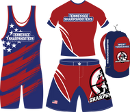Sharpshooters  singlet, 2-piece uniform and gear bag package