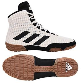 Tech Fall 2.0 Youth Wrestling Shoe in White/Black