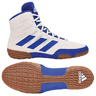 Youth adidas Tech Fall Wrestling Shoe in White and Royal