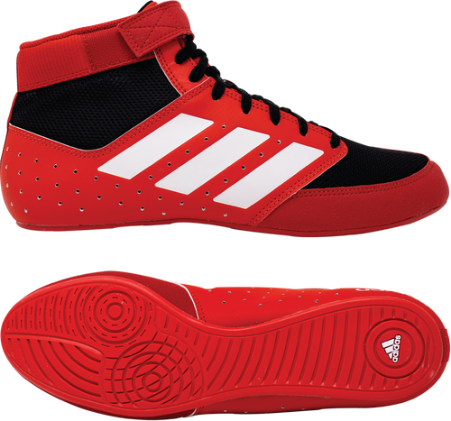 adidas Mat Hog 2.0 wrestling shoes in Red/Black/White