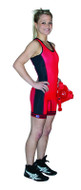 Red-Royal-Black Side Panel Cliff Keen The Respond Women's Reversible Lycra Stock Singlet
