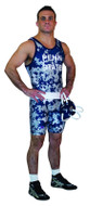 Sublimated Cliff Keen S744338 Camo Sublimated Custom Singlet