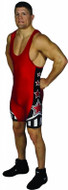 Red-Black Matman Athens Sublimated Stock Singlet