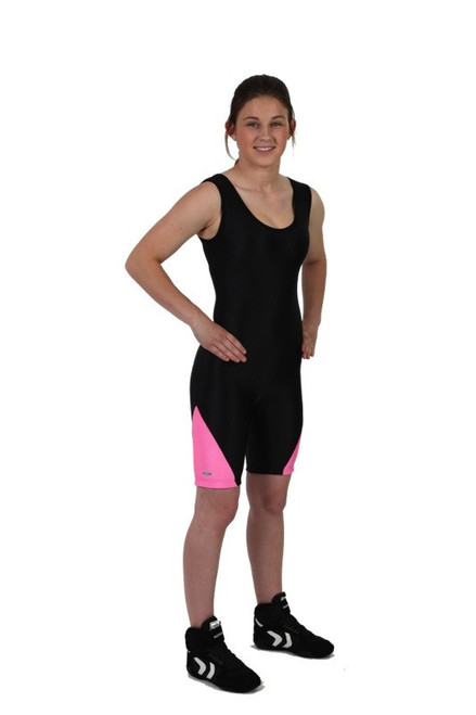 Solid color- Contrast Leg Panel Matman #86-04 Delta Women's Custom Singlet