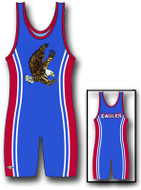 Sublimated Matman #210 The Side Stripe Custom Singlet