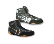 Black-Silver White Matman SO40 Revenge Youth Wrestling Shoe