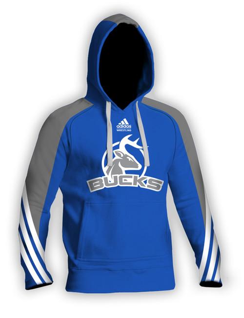 Sublimated Blue Adidas Hoodie aA400hs